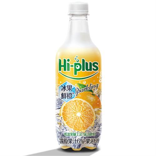 黑松 Hi-plus氣泡飲(冰果鮮橙)(500ml*4/瓶)