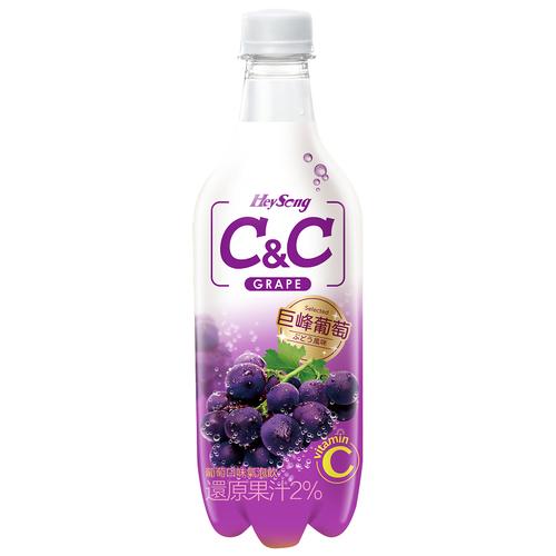 黑松汽水 C&C氣泡飲(葡萄口味)(500ml*4/瓶)
