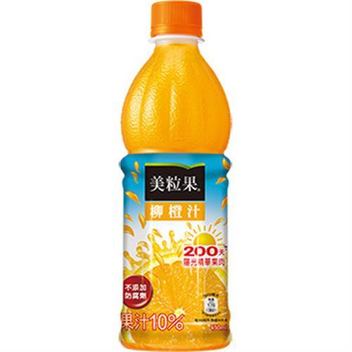 美粒果 柳橙果汁(450ml/瓶)