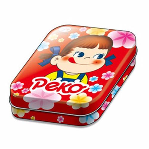 不二家peko 花樣牛奶糖罐-紅花(40g/盒)