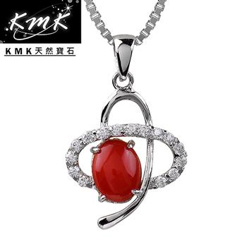 KMK天然寶石 【恆星】純天然深海紅/粉珊瑚-項鍊(深海-紅珊瑚)