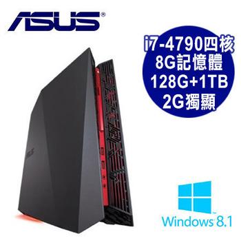 ASUS華碩 【福利品】G20AJ 電競 Intel i7-4790四核 2G獨顯/8G/SSD128G+1TB/Win8.1遊戲機