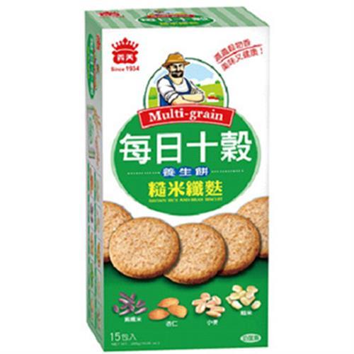 義美 每日十穀養生餅-糙米纖麩(285g/盒)