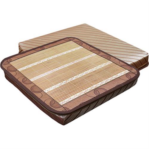 舒夏碳化雙竹記憶立體坐墊(50×50×5cm)