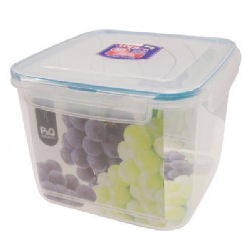 樂扣樂扣 P&Q方型保鮮盒1.5L藍蓋(P-00038)