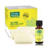 《澳洲星期四農莊》茶樹純淨皂(3入/組)+茶樹精油(25ml/入)
