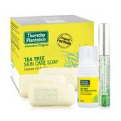 《澳洲星期四農莊》茶樹潔顏慕斯+茶樹修護棒+茶樹純淨皂x3超值優惠組