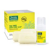 《澳洲星期四農莊》茶樹潔顏慕斯+茶樹純淨皂x3超值優惠組