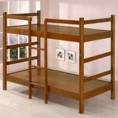 《Homelike》伊芙3.5尺雙層床(淺胡桃色)