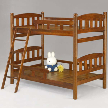 《Homelike》多琳3.5尺雙層床(淺胡桃色)