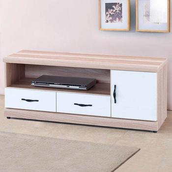 《Homelike》愛瑪4尺電視櫃(原木+白色)