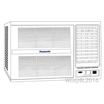 Panasonic 國際牌 6-7坪變頻右吹式窗型冷氣 (CW-G40HA2) ★含標準安裝+舊機回收