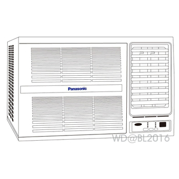 Panasonic 國際牌 4-5坪定頻右吹式窗型冷氣 (CW-G25S2) ★含標準安裝+舊機回收