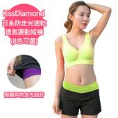 《【KissDiamond】》日系防走光速乾透氣運動短褲-果綠(S)