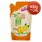 《楓康》一滴淨食品用洗碗精補充包(柑橘 (800g)*12包)