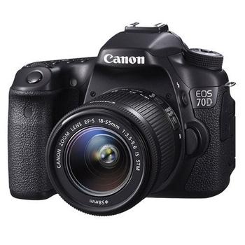 CANON EOS 70D+18-55mm *(中文平輸)-送64G-C10記憶卡+副電+單眼包+UV鏡+減壓背帶+中腳+相機清潔組+硬保(黑色)