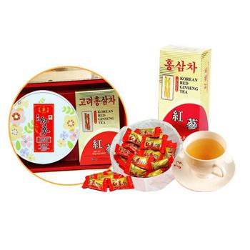 金蔘 韓國金蔘伴手禮盒組(高麗紅蔘茶包(30入/盒)+紅蔘糖(200g/盒))