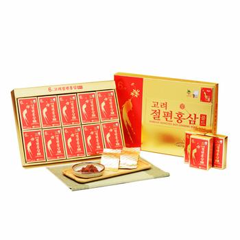 金蔘 6年根韓國高麗紅蔘蜜片(20g*10份/盒(加贈蔘芝王3瓶))