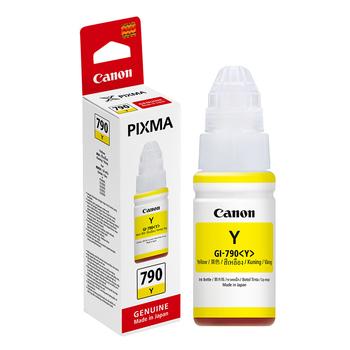 佳能 【原廠 盒裝】CANON GI-790 Y 黃色連續供墨填充墨水 (適用 G1000/G2002/G3000 G系列)