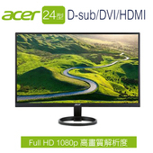 《Acer宏碁》【拆封機】R241Y 24型 FullHD薄邊框+三介面液晶螢幕