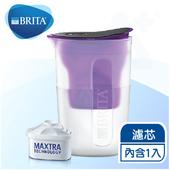 《德國BRITA》fill&enjoy FUN酷樂壺 / BRITA濾水壺1.5L 【內含1入濾芯】(紫色)