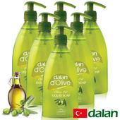 《土耳其dalan》頂級橄欖油液體香皂(400mlX6)買就送歐美香氛皂一入(隨機出貨)