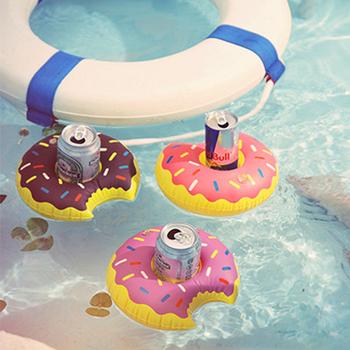 韓版 漂浮充氣杯座(多款可選)2入組(甜甜圈+椰子樹)