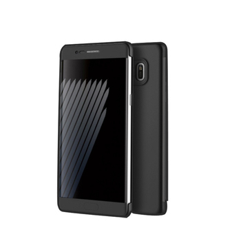 Rock Samsung Galaxy Note 7 博視系列側翻皮套(黑)(黑色)