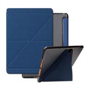 《Bravo-u》Apple iPad Air2 碎石紋米字折變型智能休眠皮套(寶藍)