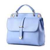 《L. Elegant》雙層時尚單肩手提兩用郵差造型包(共二色)(天空色)