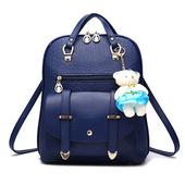 《L.Elegant》韓版風范新潮雙肩後背包 (共二色)(藍色)