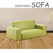 《【時尚屋】》[U6]蘿絲蘋果綠特殊透氣皮雙人座沙發U6-919-502
