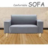 《【時尚屋】》[U6]蘿絲灰色特殊透氣皮雙人座沙發U6-918-502