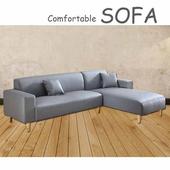 《【時尚屋】》[U6]蘿絲灰色特殊透氣皮雙人L型沙發U6-918-60