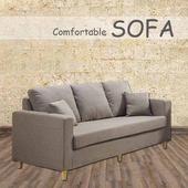 《【時尚屋】》[U6]傑西淺咖啡三人座布套沙發U6-918-103