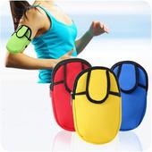 《Bunny》戶外運動跑步旅遊防震防水便攜式手臂包腕包(藍色)