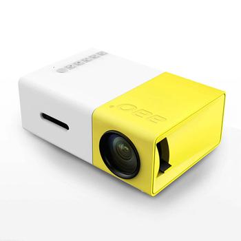長江 攜帶型高清微型投影機★贈HDMI線+迷你腳架(黃白色)