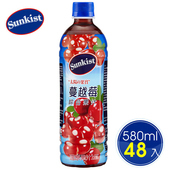 《Sunkist香吉士》蔓越莓綜合果汁飲料580mlx2箱(24瓶/箱)