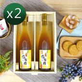 《醋桶子》健康果醋2入禮盒組任選2組免運/鳳梨醋/蘋果蜂蜜醋/梅子醋(鳳梨醋x2組)