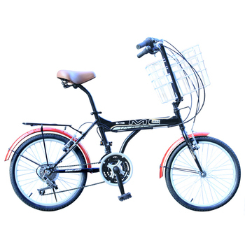 BIKEONE M6 LITE 20吋21速 城市樂活腳踏車/寵物車(黑色)