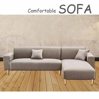 《【時尚屋】》[U6]傑克淺咖啡色布套雙人L型沙發U6-919-702
