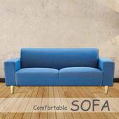 《【時尚屋】》[U6]傑克藍色布套三人座沙發U6-919-105