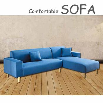 《【時尚屋】》[U6]傑克藍色布套雙人L型沙發U6-919-701