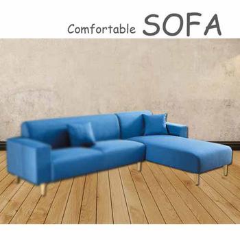 《【時尚屋】》[U6]傑克藍色布套貴妃椅U6-919-106不含單扶手三人座