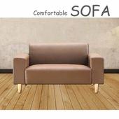 《【時尚屋】》[U6]蘿絲卡其色特殊透氣皮雙人座沙發U6-919-602