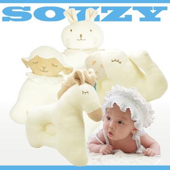SOZZY 兒童有機彩棉動物定型嬰兒枕/3款(馬)