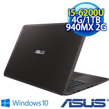 ASUS X756UQ-0021A6200U 亮面棕/I5-6200U/4G/1TB 7200轉/NV 940MX/DVD/FHD(X756UQ-0021A6200U)