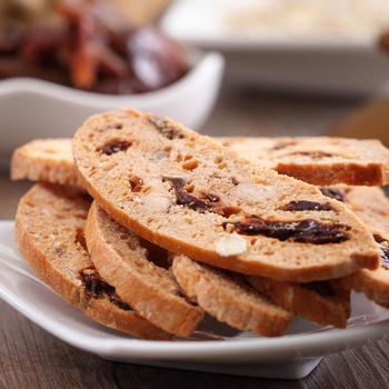 春鑫食品 健康纖暢義式手工香脆餅100g/盒(夏威夷果葡萄乾/巧克力扁桃仁/荔枝燕麥)(荔枝燕麥1盒)
