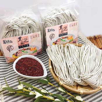 真食良品 手工日曬黑芝麻紅藜麥養生麵250g/包(5綑/包)(4包)
