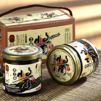 弘益傳香世家 古法研磨100%純黑芝麻醬300g/瓶(1瓶)